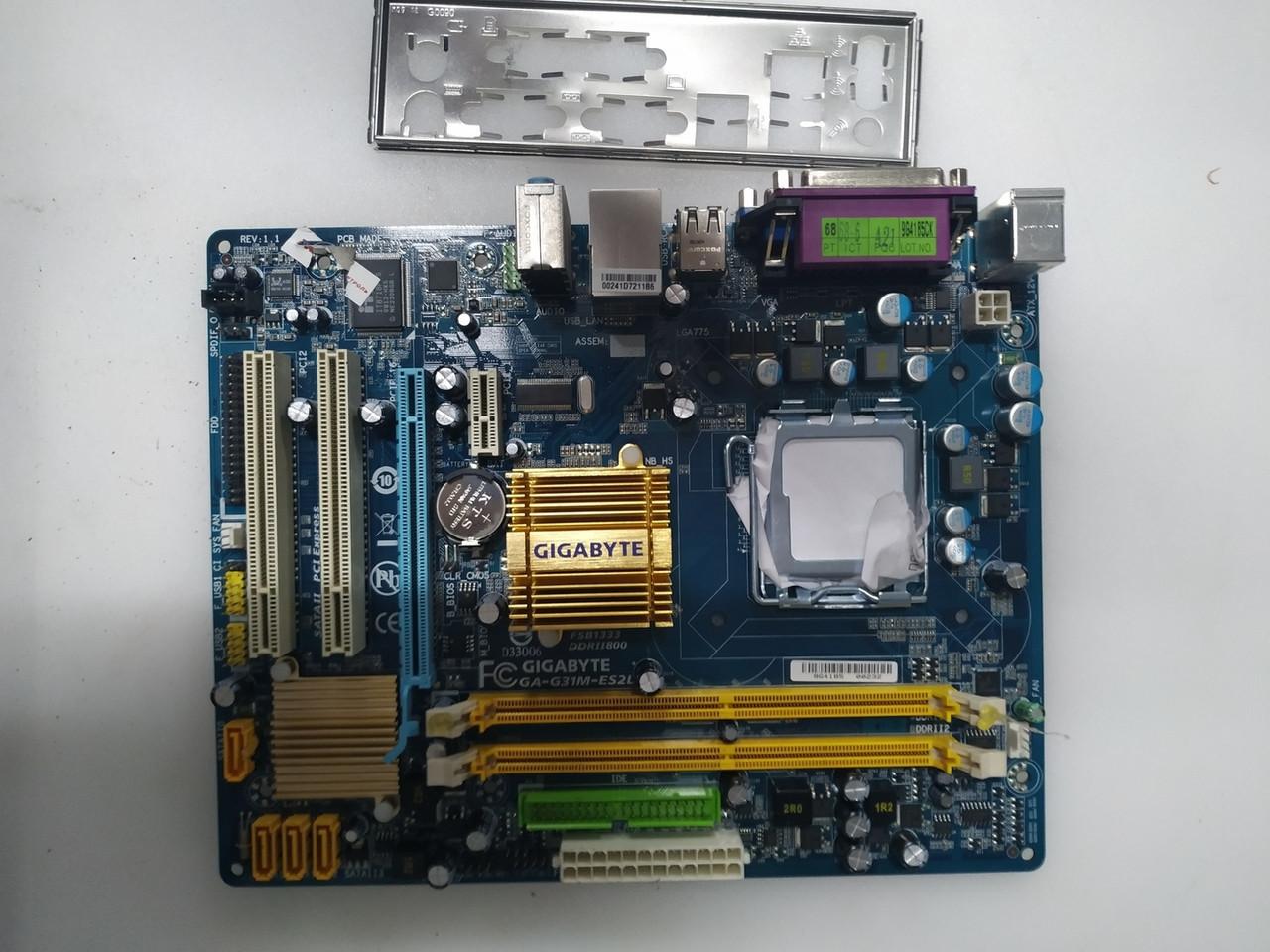 Материнская плата Gigabyte GA-G31M-S2L (s775, G31, Core™ 2 Quad)