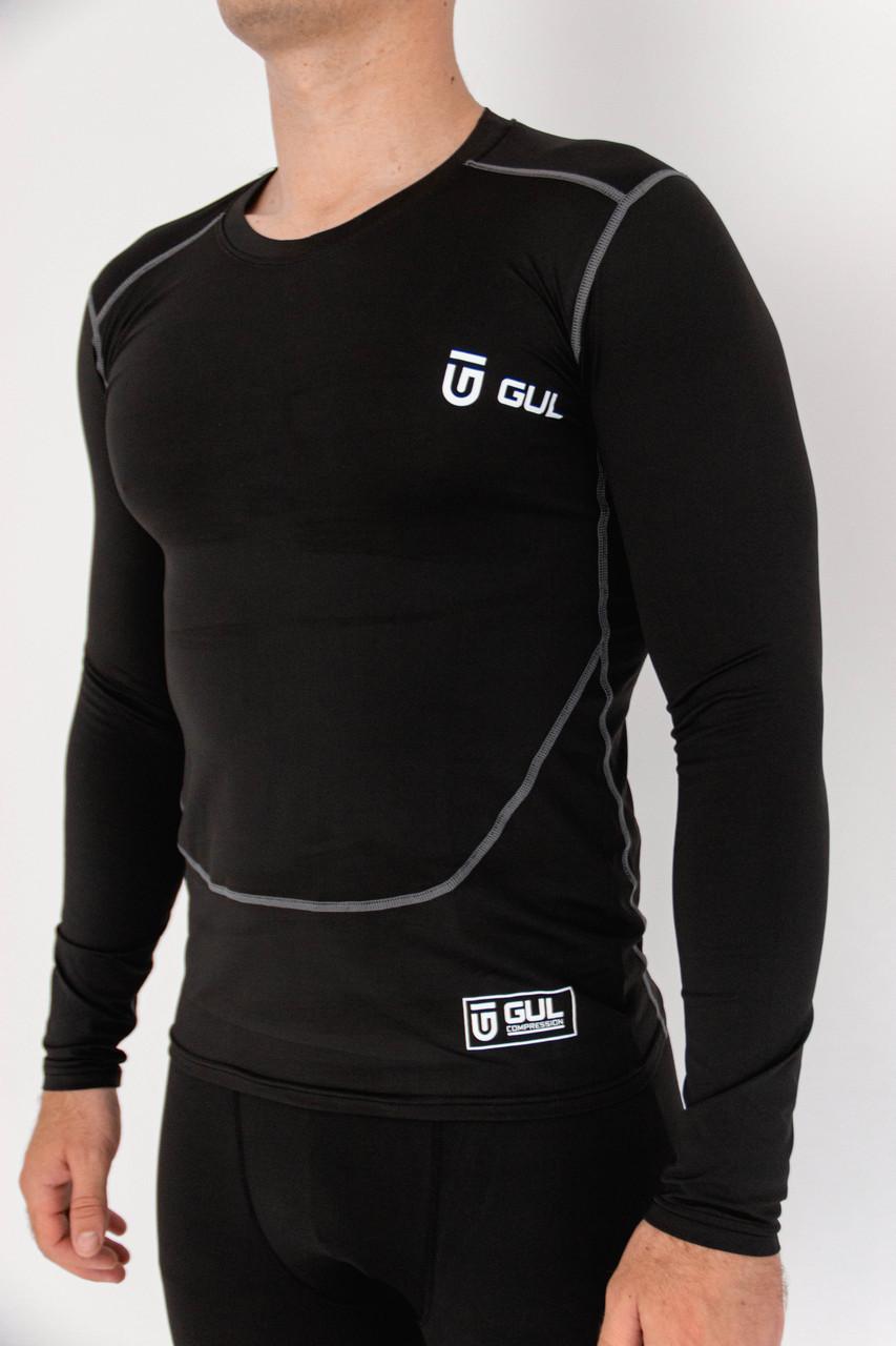 Термо-кофта GUL компресійна термобілизна чорна кофта для спорту