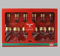 """Набор 12 предметный ( 6 бокалов 260 мл для вина+6 стопок 50 мл) рисунок """"Версаче"""""""
