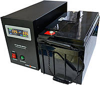 Комплект резервного питания ИБП Logicpower LPY-B-PSW-500 + АКБ LPM12-65 для 5-7ч работы газового котла, фото 1