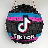 Піньята TikTok тік ток Tik Tok тикток піньята піната кулю на день народження куля обхват 110 см, фото 4