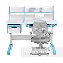 Комплект для хлопчика стіл-трансформер FunDesk Libro Blue + ортопедичне крісло FunDesk Delizia Grey, фото 3