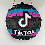 Піньята TikTok тік ток Tik Tok тикток піньята піната кулю на день народження куля обхват 110 см, фото 2