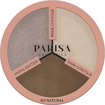 Палетка для контуринга Parisa Cosmetics So Natural 10,5 г