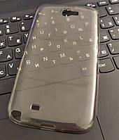 Чехол силиконовый прозрачный Samsung Note 2 7100, 0,5mm, Черный