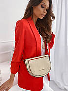 Модний жіночий піджак з підплечниками з двома кишенями, 00906 (Червоний), Розмір 42 (S), фото 4