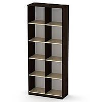 Шкаф книжный КШ-2 венге комби Компанит (84х36х206 см)