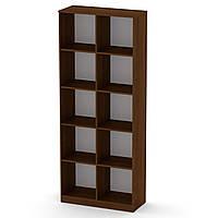 Шкаф книжный КШ-2 орех экко Компанит (84х36х206 см)