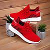 Чоловічі текстильні кросівки червоного кольору в наявності. Розміри 36-40
