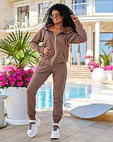 """Спортивний костюм жіночий, з капюшоном на блискавці р-ри 42-56 """"DORA"""" недорого від прямого постачальника"""