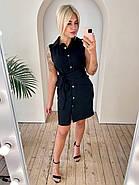 Платье женское из льна Турция без рукавов, 00910 (Черный), Размер 42 (S), фото 3