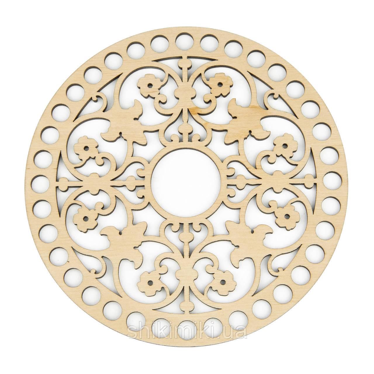 Заготівля з фанери ажурна кругла -88 (12 см)