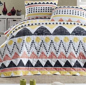 Покривало стьобане з наволочкою Enlora Home - Bettina sari різнобарвний 180*225