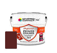 """Грунт-эмаль антикорозійний Червоно-коричневий """" 3 в 1"""" Dnipro-Contact 0.9 кг"""