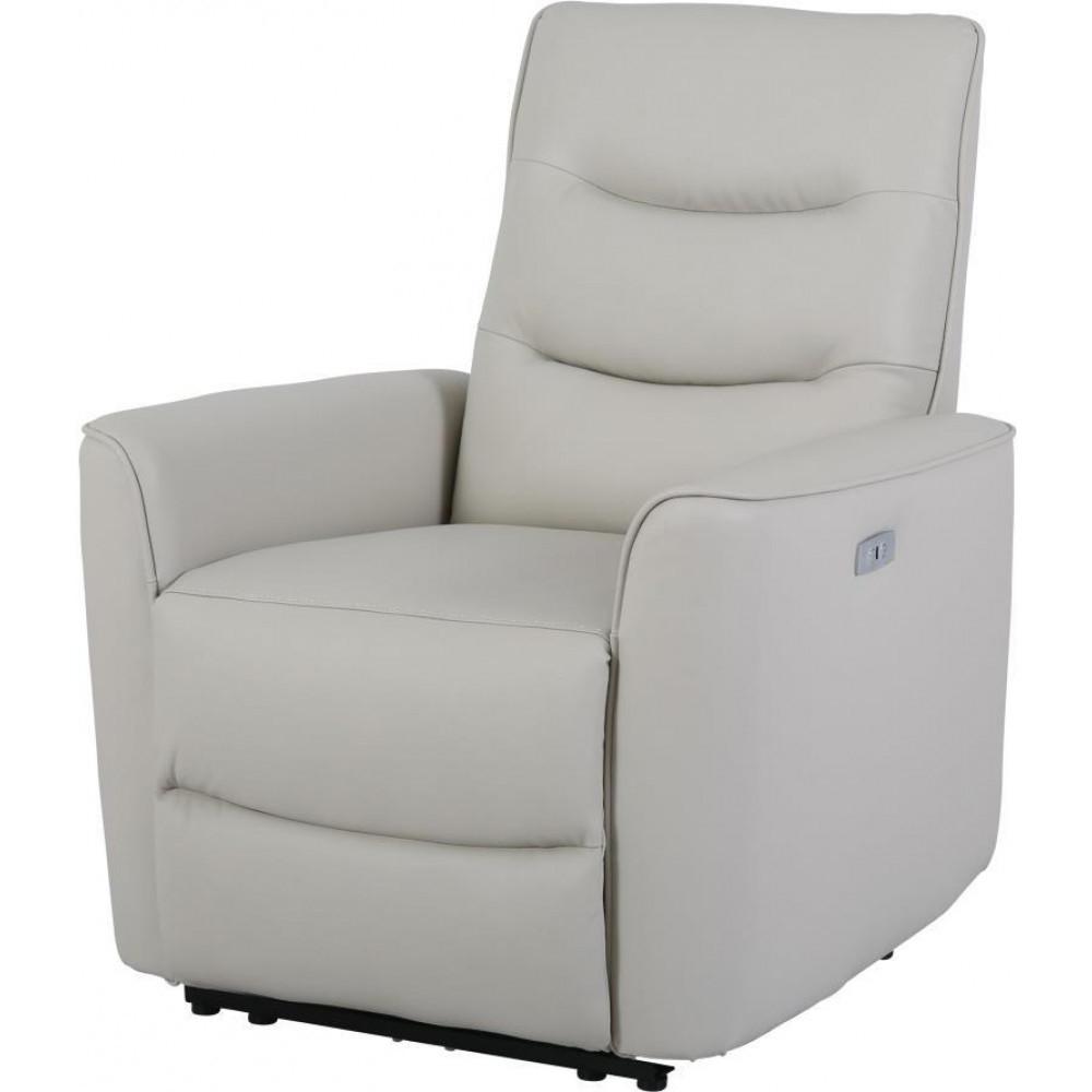 Кожаное кресло реклайнер Грин