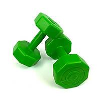 Гантели для фитнеса 2 кг. x 2 шт., (зеленые)