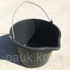 Ведро пластиковое 5 л строительное, хозяйственное. Ведро с носиком и мерной шкалой