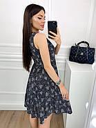 Женское котоновое платье без рукавов на пуговицах, 00914 (Черный), Размер 42 (S), фото 2