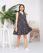 Женское котоновое платье без рукавов на пуговицах, 00914 (Черный), Размер 42 (S), фото 4