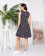 Женское котоновое платье без рукавов на пуговицах, 00914 (Черный), Размер 42 (S), фото 5
