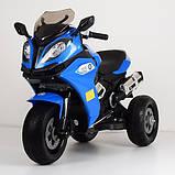 Мотоцикл дитячий двомоторний M 3913EL-4 синій, фото 2