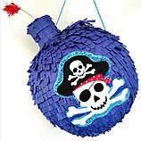 Піньята пірати бомба ядро піратська піната піньята на день народження паперова для свята, фото 2
