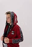 Худи,кофта, батник, свитшот  для мальчиков с двойным капюшоном 152-176см, фото 4