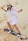 Туника пляжная белая шифоновая короткая, фото 3
