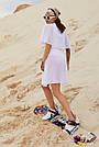 Туника пляжная белая шифоновая короткая, фото 4