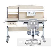 Комплект зростаюча парта для школярів Cubby Ammi Grey + ергономічне крісло FunDesk Pratico Grey, фото 3