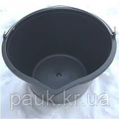 Ведро 14 л. Пластиковое строительное ведро с носиком и мерной шкалой