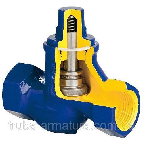 Клапан зворотний підйомний чавунний муфтовий Zetkama DN 32 PN 1,6 МПа