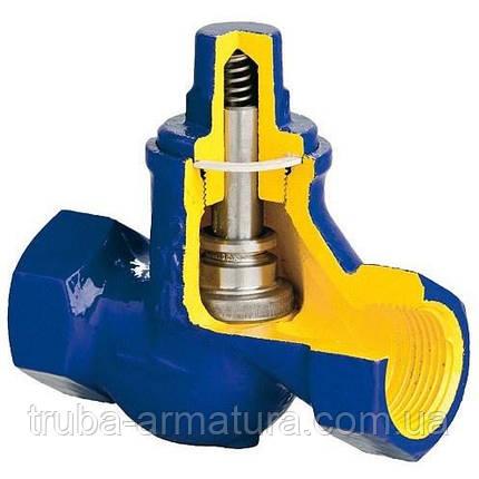 Клапан зворотний підйомний чавунний муфтовий Zetkama DN 32 PN 1,6 МПа, фото 2