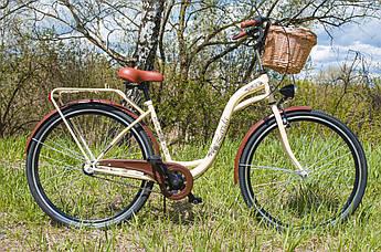 Велосипед женский городской Lavida CityLine 28 Nexus 3 Cream с корзиной Польша