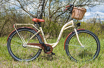 Велосипед жіночий міський Lavida CityLine 28 Nexus 3 Cream з кошиком Польща