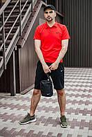 Мужской комплект Поло + шорты Nike Спортивный костюм мужской летний Найк