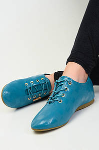 Мокасины женские лак голубые Q.T.Y.L.L 111298P