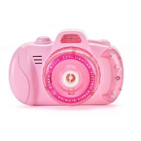 Генератор мыльных пузырей Bubble Camera Фотоаппарат (Pink) | Аппарат для создания мыльных пузырей
