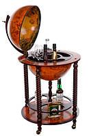 Глобус бар напольный Древняя карта коричневый сфера 45 см Гранд Презент 45043R