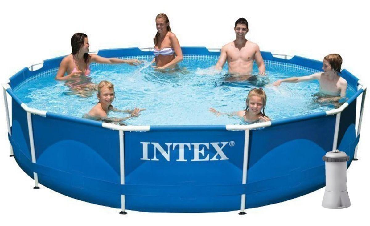 Intex 28212,56996 каркасний басейн Metal Frame Pool (366х76 см)