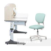 Комплект зростаюча парта для школярів Cubby Ammi Grey + ергономічне крісло Buono Dark Green, фото 2