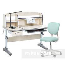 Комплект зростаюча парта для школярів Cubby Ammi Grey + ергономічне крісло Buono Dark Green, фото 3
