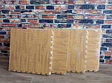 Пол пазл - модульное напольное покрытие 600x600x10мм светлое дерево, фото 9