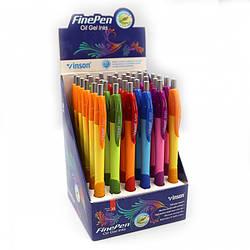 """8501 Ручка автомат масл.Vinson """"Easy"""" 0,7мм, синяя, грип, mix, 36шт/этик."""