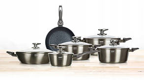 Набори посуду Banquet Metallic Platinum 11 їв.