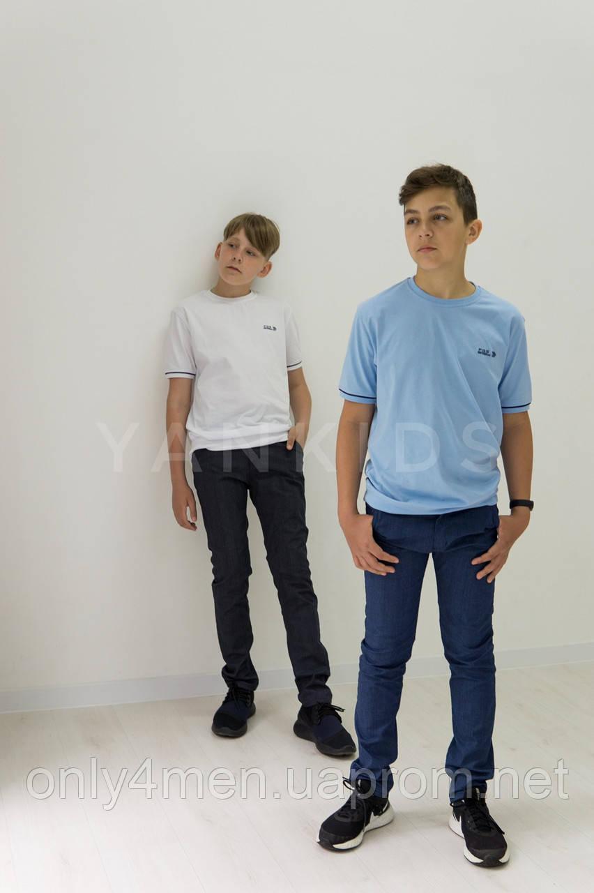 Котоновые штаны в клетку  для мальчиков   6-10 лет