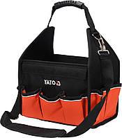 """Сумка открытая для инструментов 12"""" YATO, 16 отделений с ленточным ремнем на плечо"""