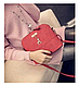 Жіноча сумочка Бембі через плече Червона | Маленька міні сумка з брелоком олень, фото 2
