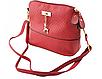 Жіноча сумочка Бембі через плече Червона | Маленька міні сумка з брелоком олень, фото 4