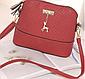 Жіноча сумочка Бембі через плече Червона | Маленька міні сумка з брелоком олень, фото 5